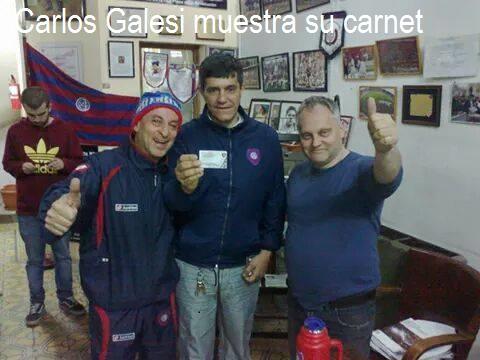 Carta de Carlos Galesi,socio refundador del CASLA