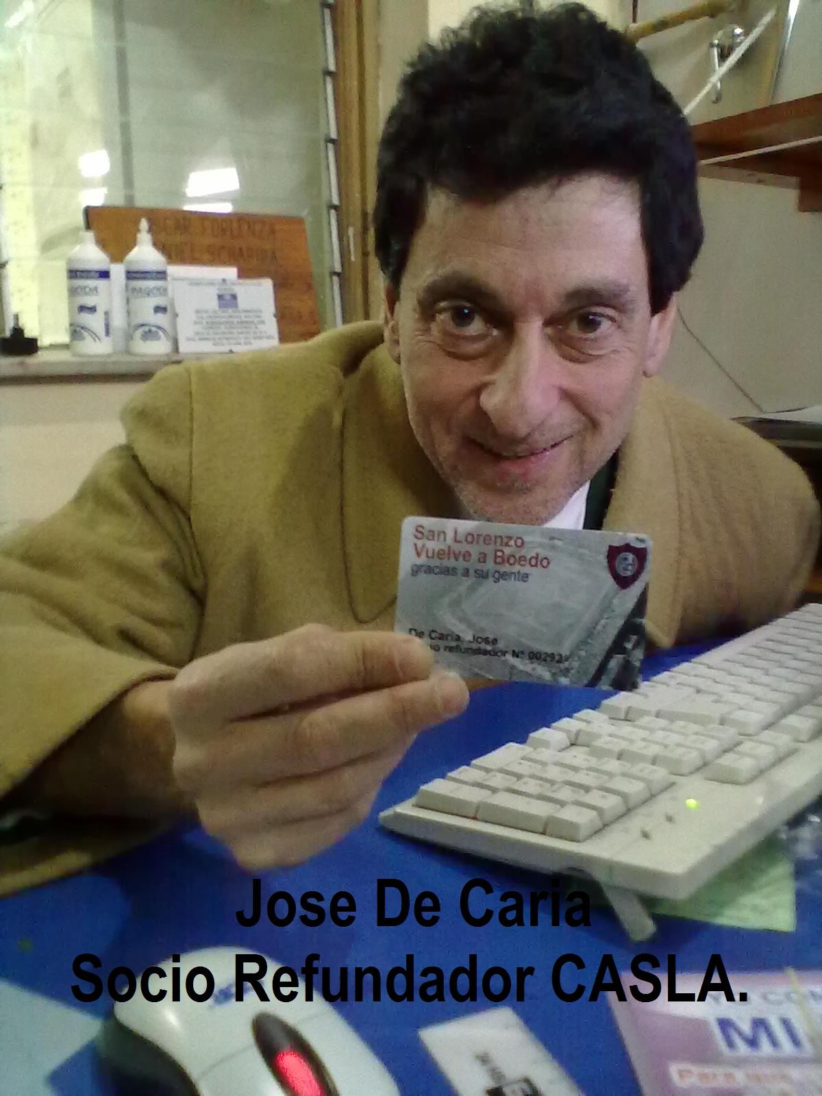 Carta de Jose De Caria- Socio Refundador