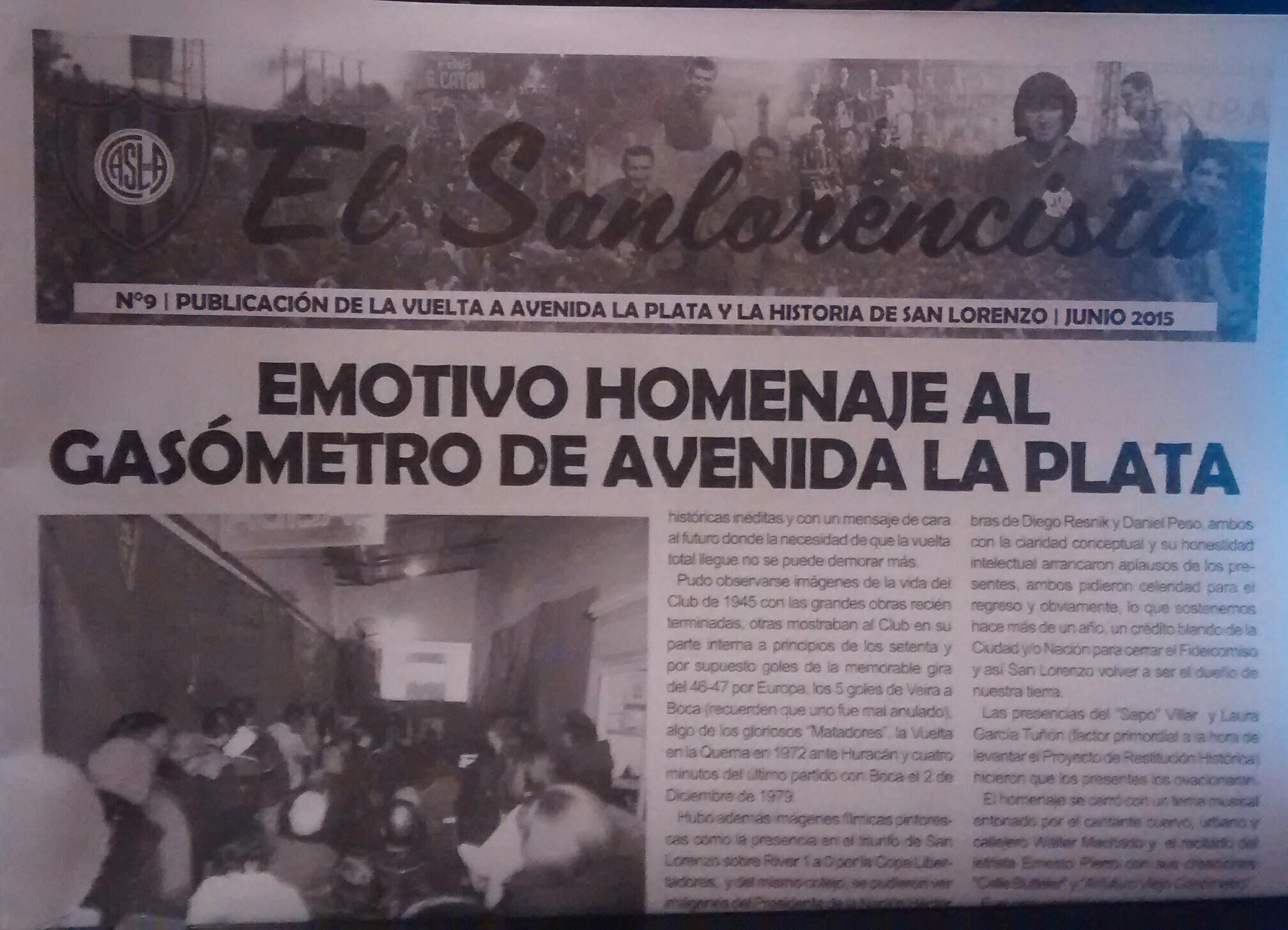 El San Lorencista de Junio.