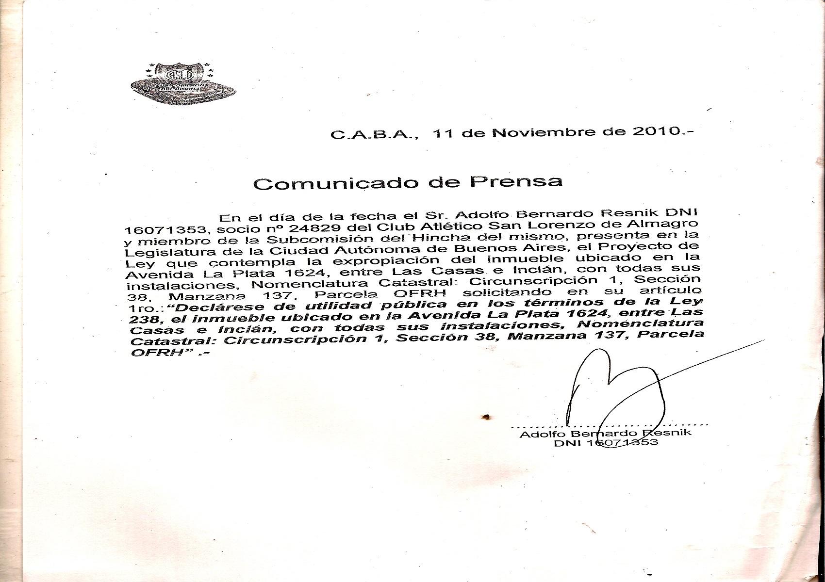 A 5 AÑOS DE LA PRESENTACIÓN DEL PROYECTO DE RESTITUCIÓN HISTÓRICA