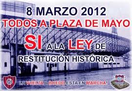 Afiche marcha del 8 de marzo de 2012