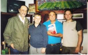 Adolfo,Diego junto a Enrique Escande y Anibal Lopez (2006).