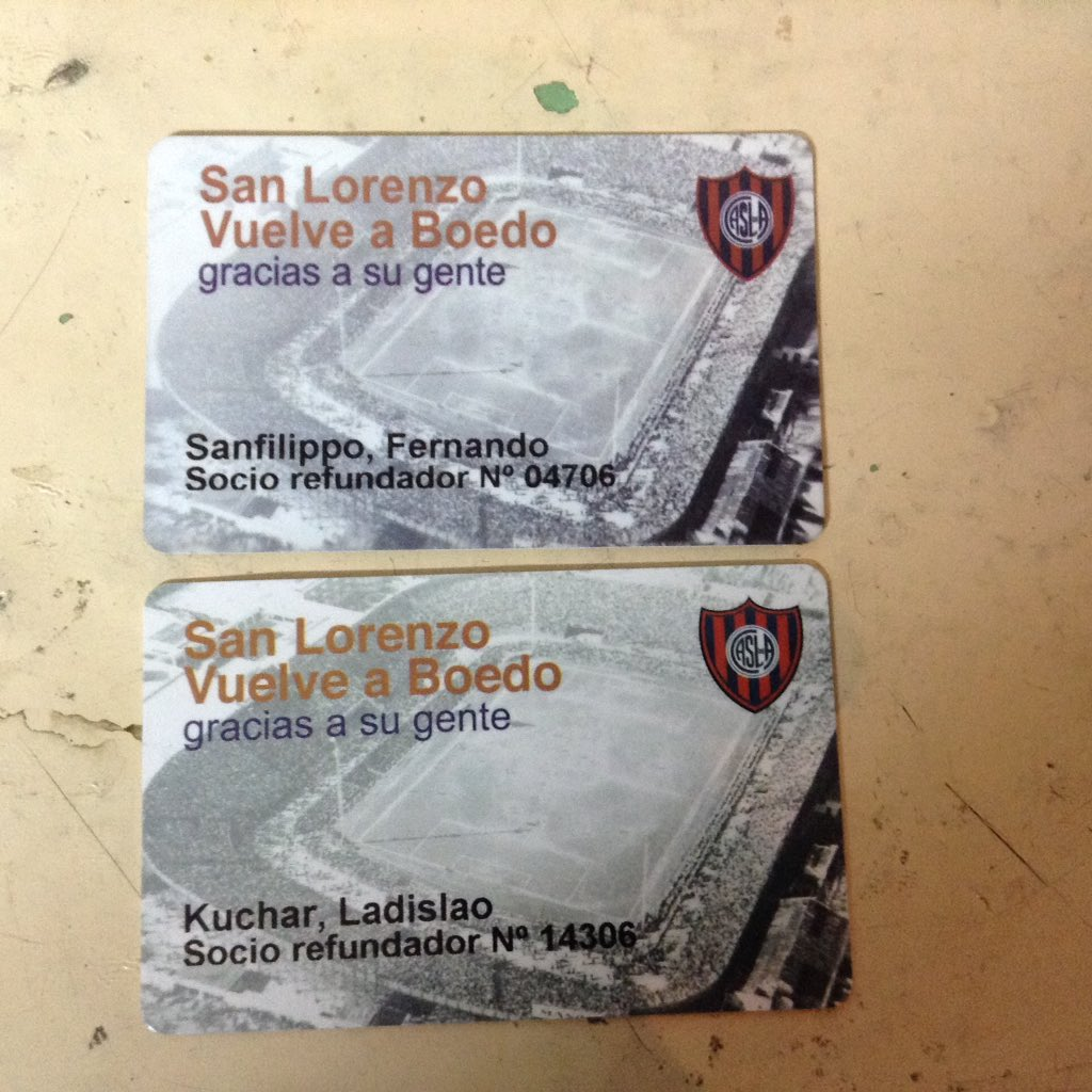 Carta de Fernando Sanfilippo, Socio Refundador!!!!