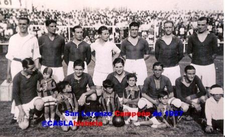 San Lorenzo Campeon 1927