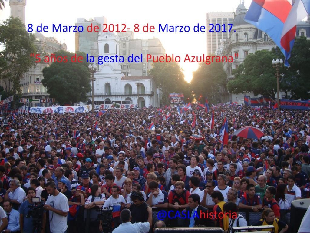 110 mil sanlorencistas apoyando el regreso del Gasometro.