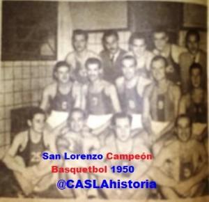 CASLA Campeon Basquet 1950
