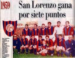 San Lorenzo Campeon 1959