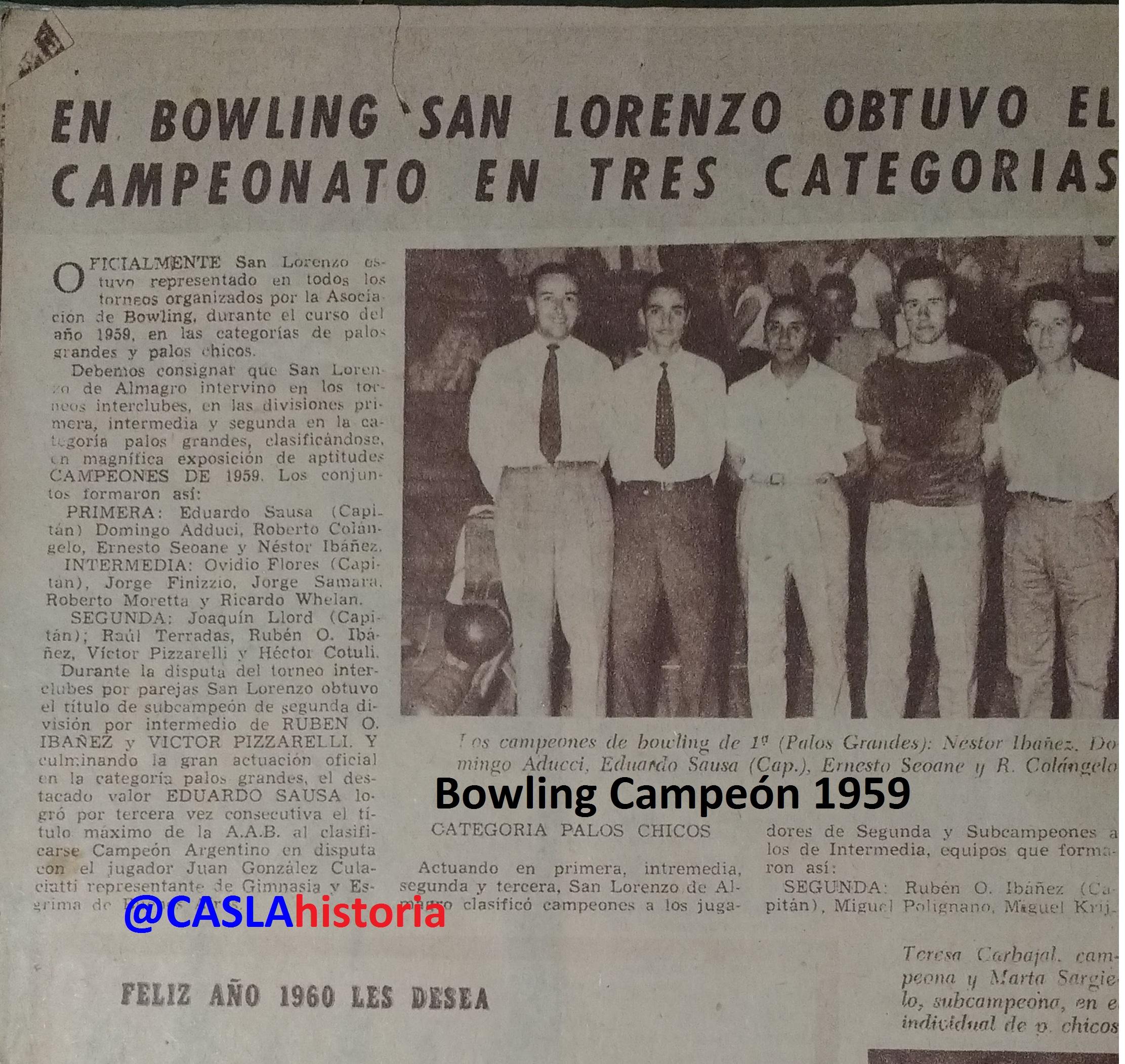 Bowling 1959