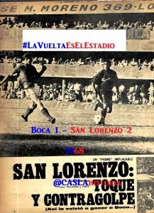 Boca 1 San Lorenzo 2 1968