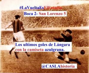 gol Lángara a Boca 1