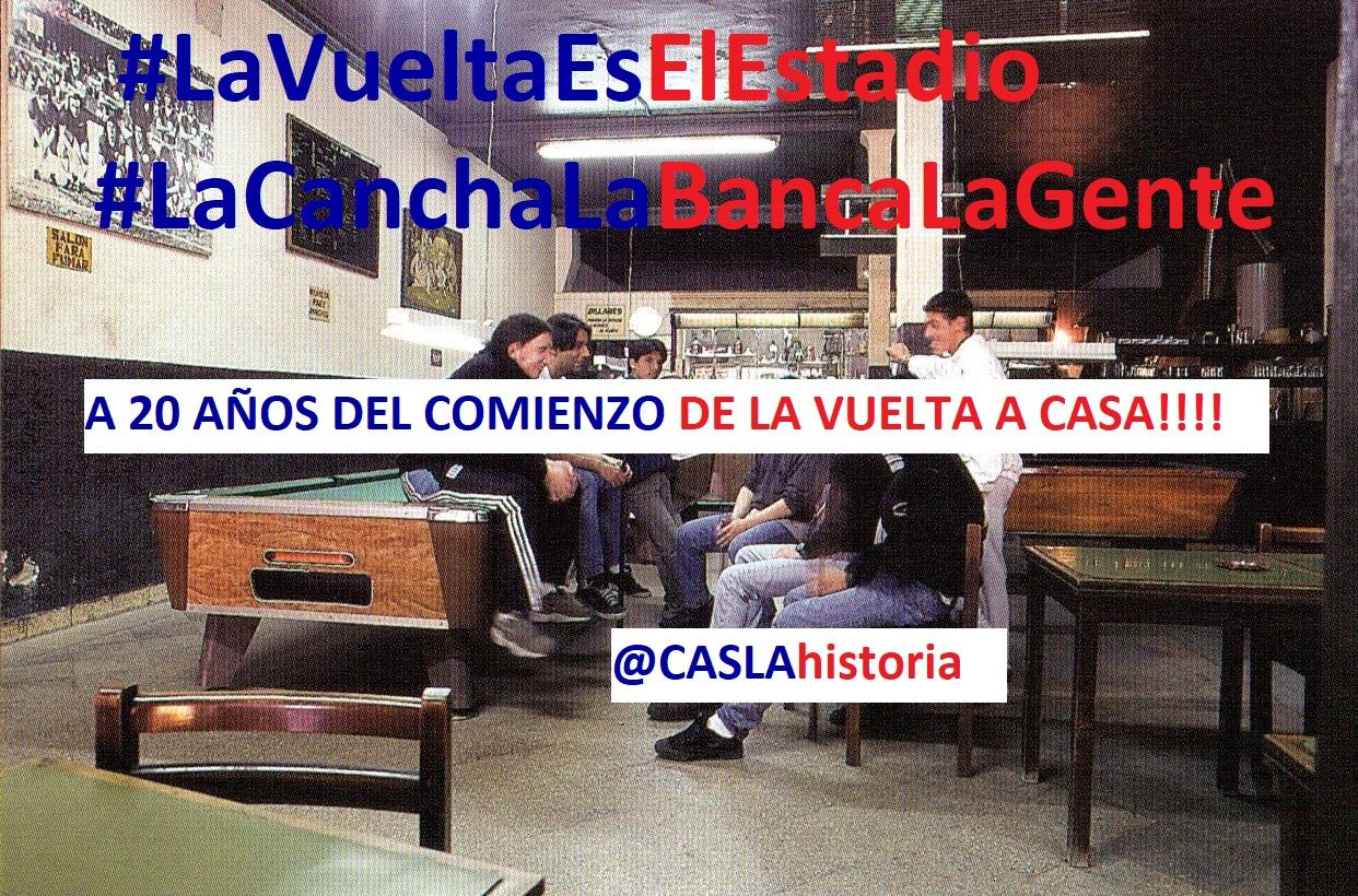 A VEINTE AÑOS DEL COMIENZO DE LA VUELTA A CASA!!!!