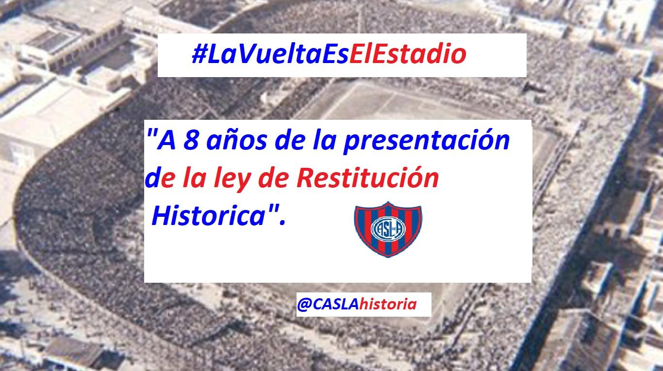 Audio Programa N° 952. «A 8 años de la presentación de la Ley de Restitución Historica».