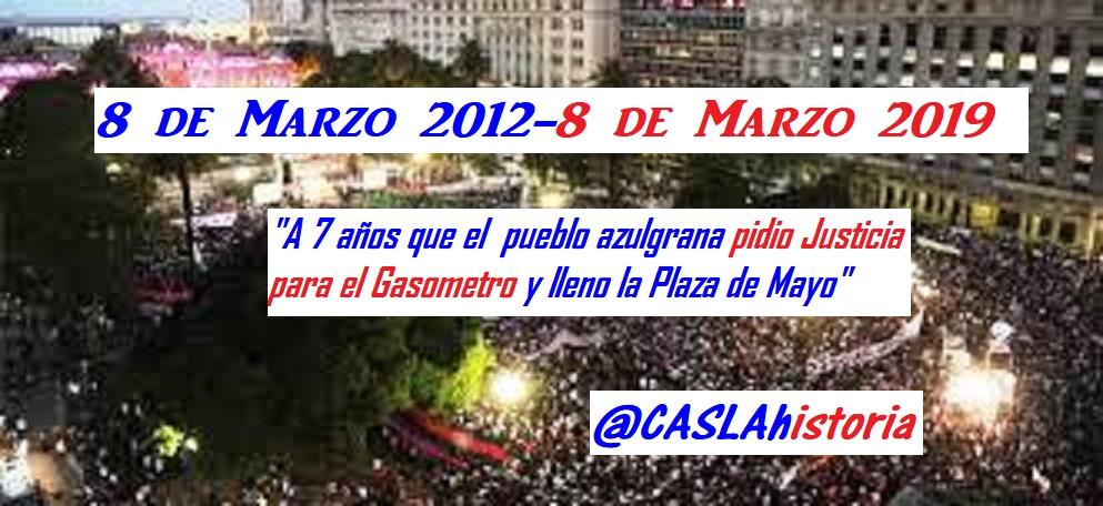 «A SIETE  AÑOS DE LA GESTA MÁS POPULAR DE LA HISTORIA DEL DEPORTE ARGENTINO».  Del 8 de Marzo del 2012 a la eternidad!!!!