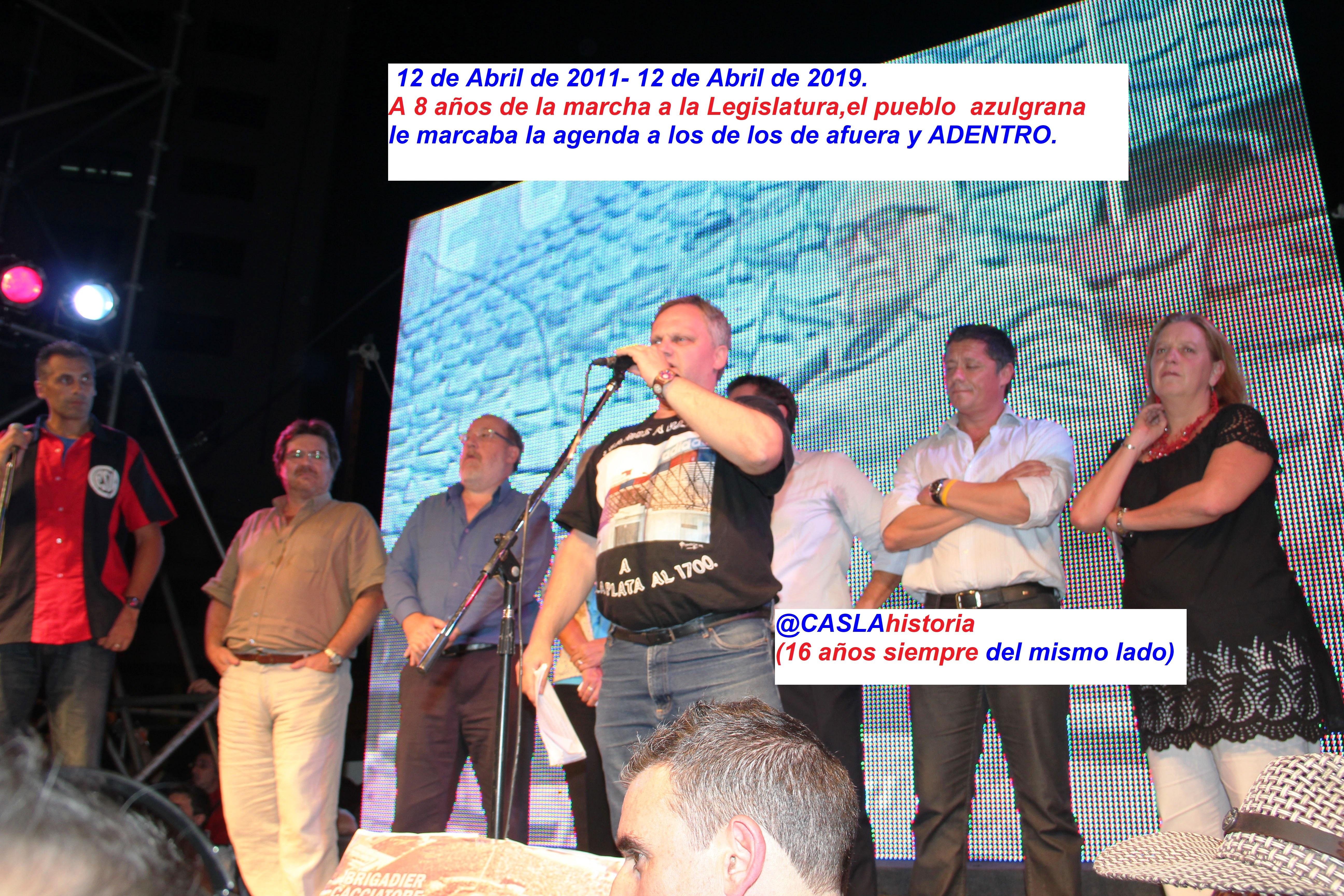 Programa N° 973.»16 años siempre del mismo lado, A 8 años de la marcha popular,Xarau, 4 a River y Pinto».