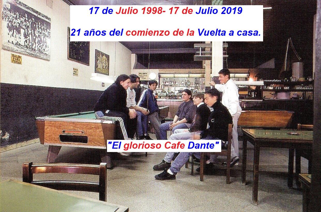 A VEINTIÚN  AÑOS DEL COMIENZO DE LA VUELTA A CASA!!!