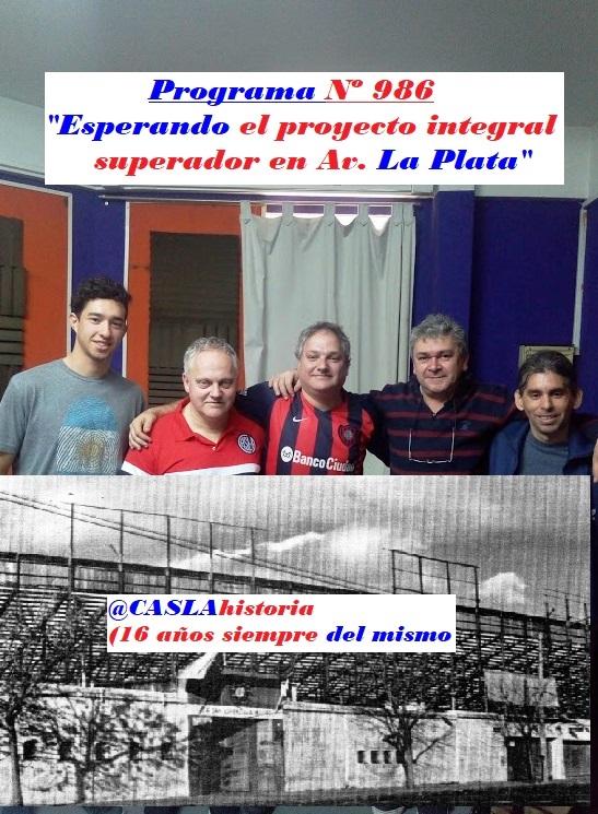 Audio del Programa  N° 986.  «Esperando el proyecto integral superador en Av. La Plata»