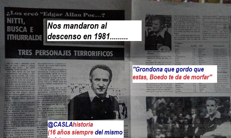 Programa N° 990. «Nos mandaron al descenso……Benavidez, victoria ante Boca en 1977»