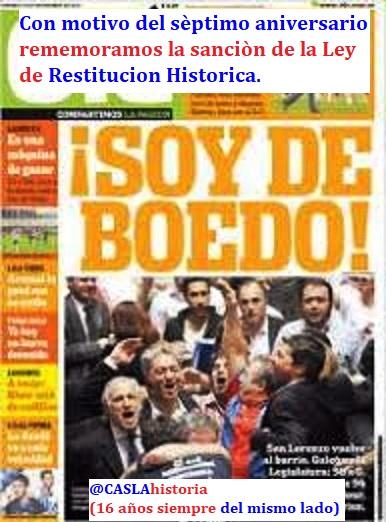 Programa N° 1001.»7 años de la Ley de Restitución Historica, Martino y Morasca»