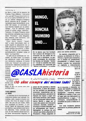 Programa N° 1006. «Campeón 74,»Minguito el Farolero», Salón San Martin,Lindolfo y el descenso de Velez.