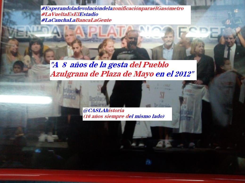 Programa N° 1017. «A 8 años de la gesta del pueblo azulgrana en la Plaza»
