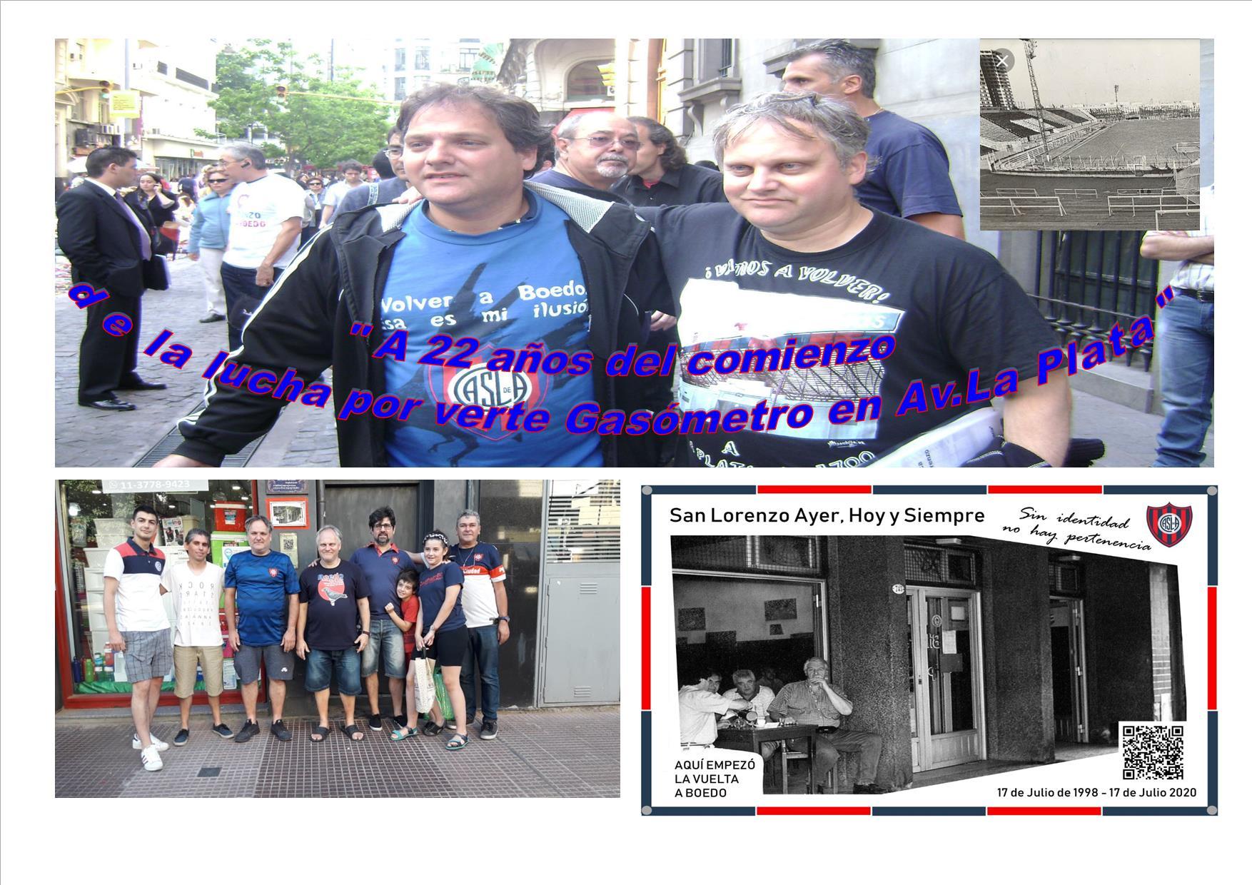 «A 22 años del comienzo de la lucha por Volver a verte Gasómetro en Av. La Plata «