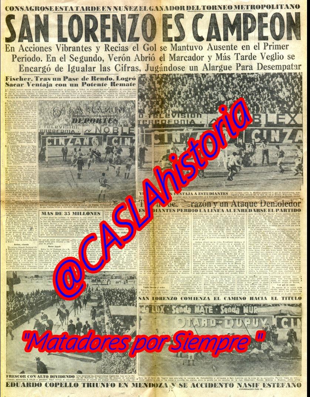 POR SIEMPRE MATADORES !!! A 52 AÑOS DE LA CONSAGRACIÓN !!!