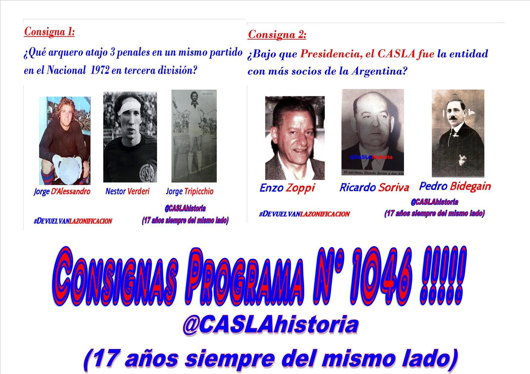 Consignas Programa N° 1046 !!!!!!