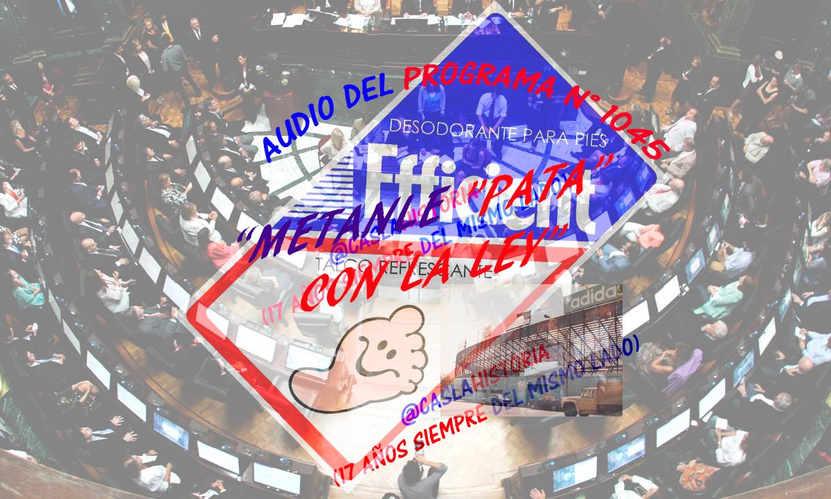 Audio Programa N° 1045 . «Metanle PATA con la Ley»!!!!