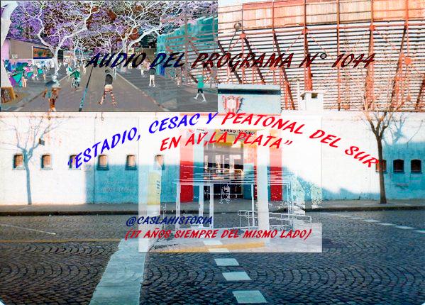 Audio del Programa N° 1044.   «Estadio,Cesac y Peatonal del Sur para Av. La Plata»