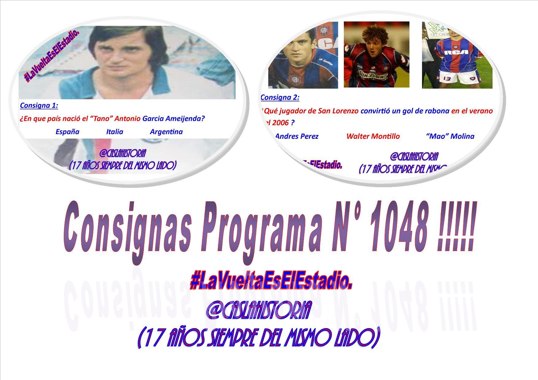 Consignas Programa N° 1048 !!!!