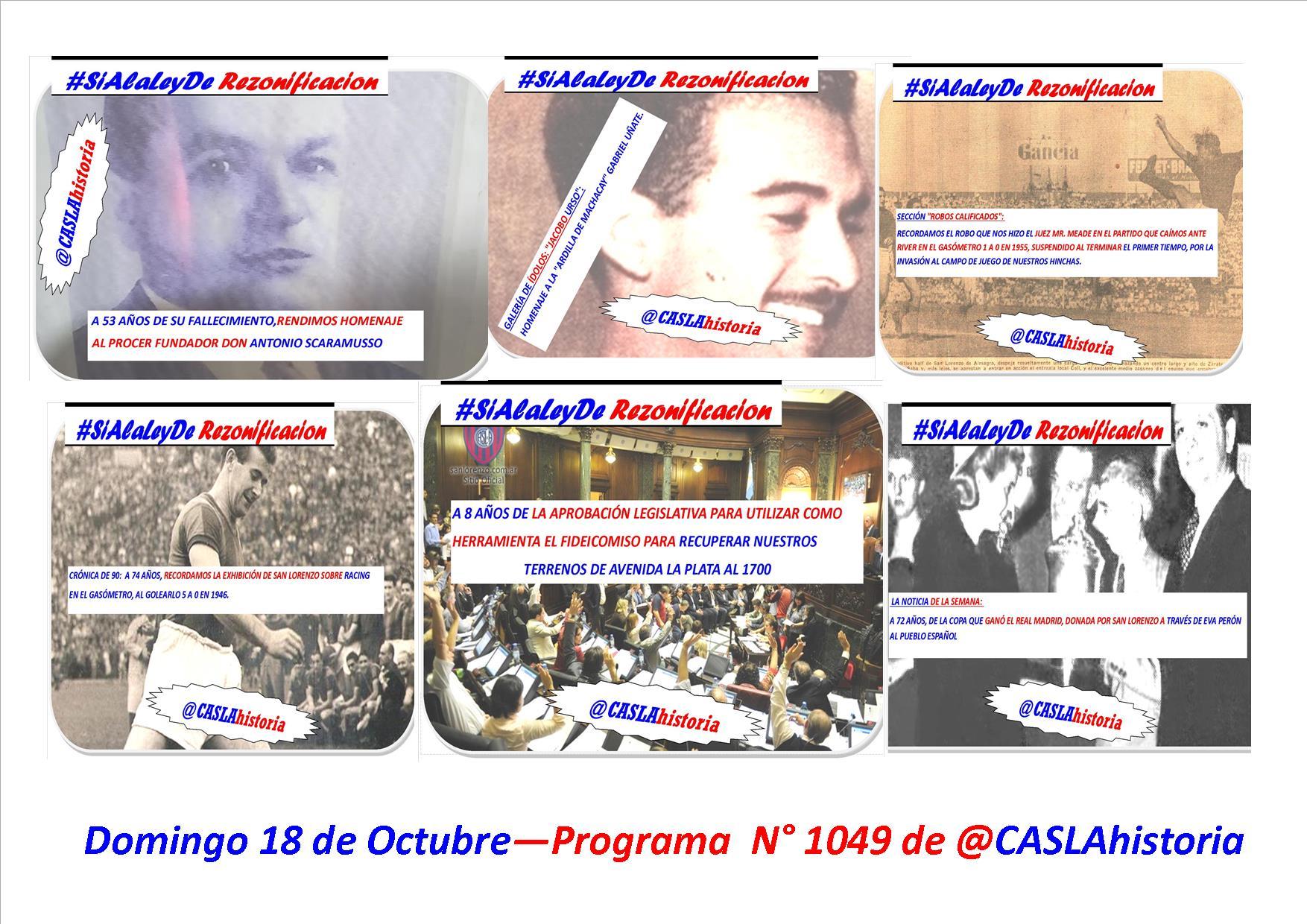 Programa N° 1049.»8 años del Fideicomiso, Scaramusso,Lujos del 46, Uñate y victoria ante el Rojo»