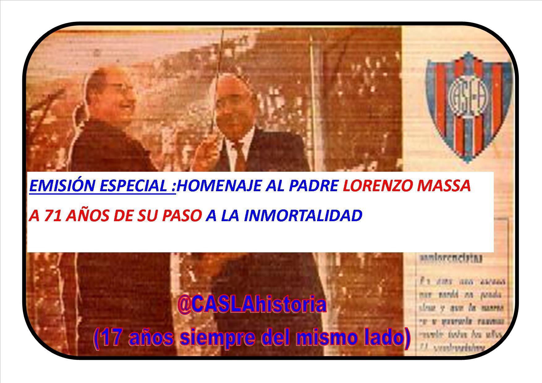 Programa N° 1050. «Homenaje a Lorenzo Massa, el Lobo Fischer,el Campeón del 24 y Jose Gonzalez Castillo»