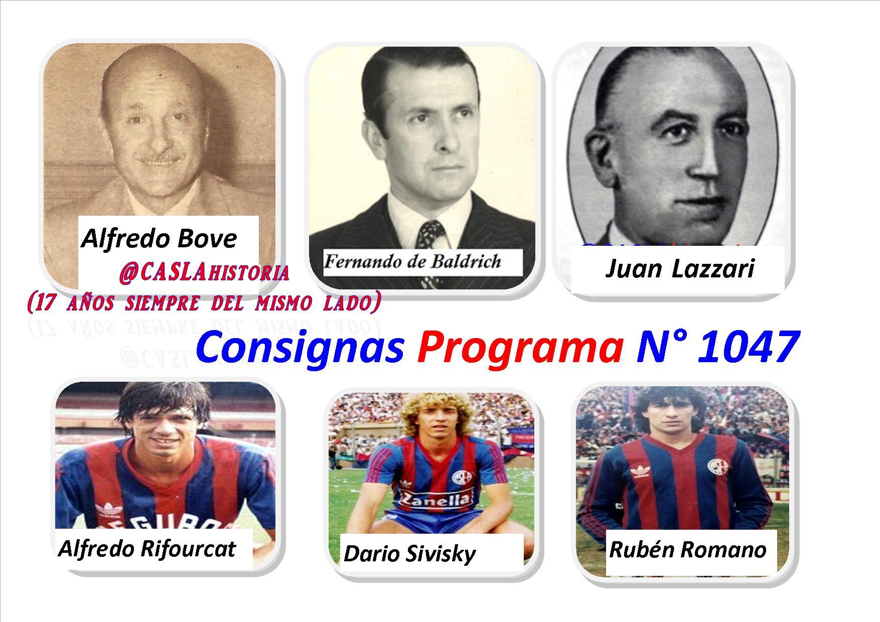 Consignas Programa N° 1047 !!!!!!