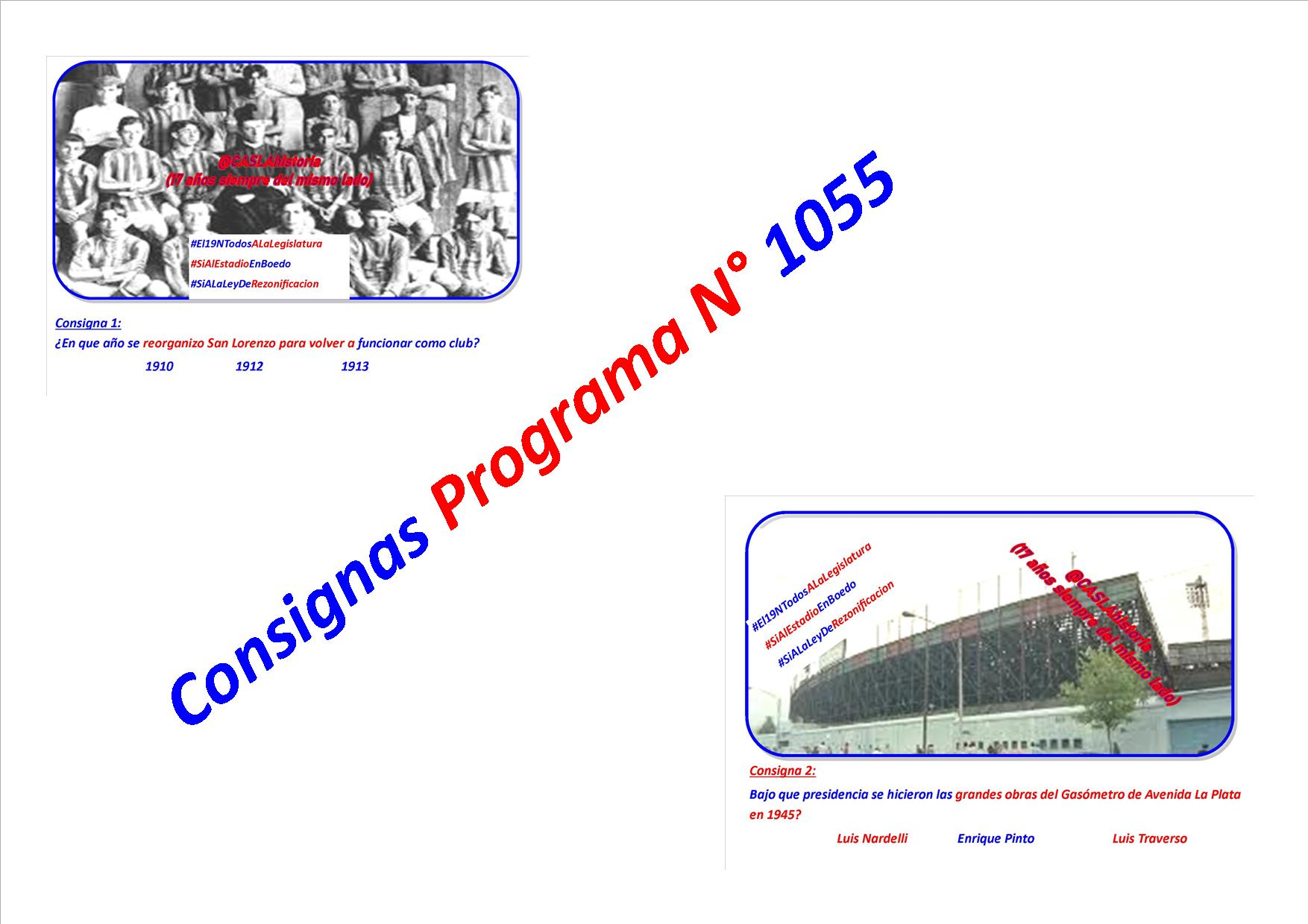 Consigna Programa N° 1055 !!!!!!