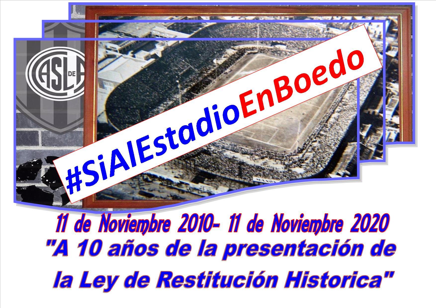 Para emocionarse!!! A 10 años de la presentación de la Ley de Restitución Historica!!!!!
