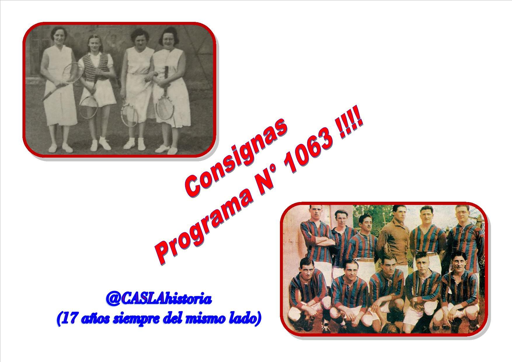 Consignas Programa N° 1063 !!!!
