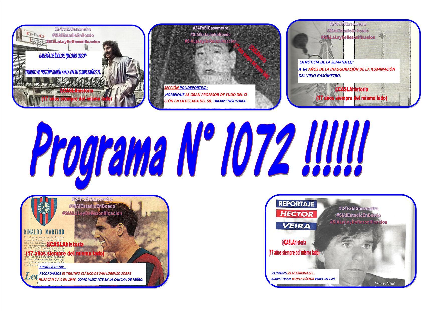 Lunes de 18 a 21hs por www.radioamep.com.ar – Programa N° 1072 !!!!!