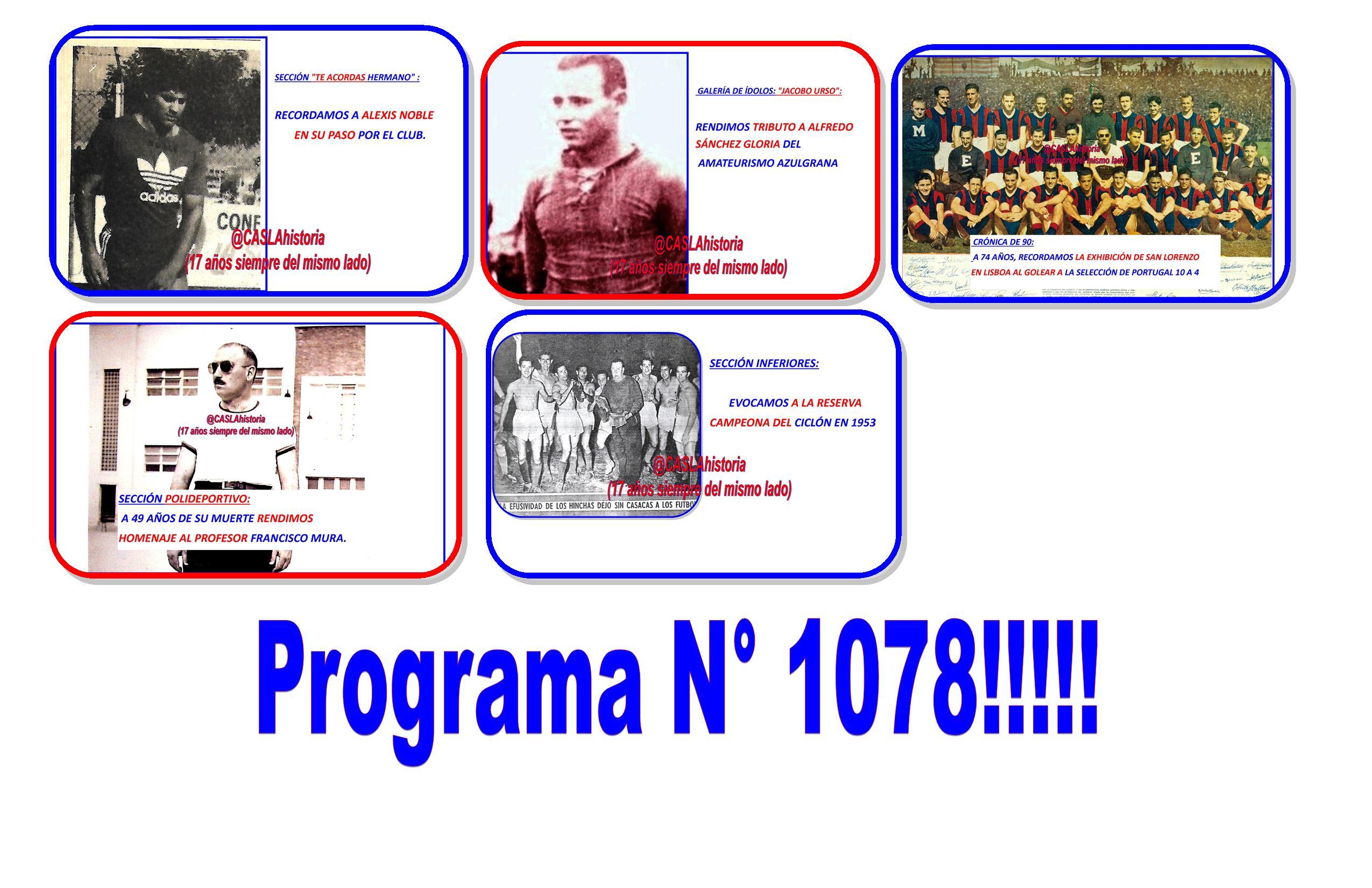 Programa N° 1078. Lunes de 18 a 21 hs por www.radioamep.com.ar