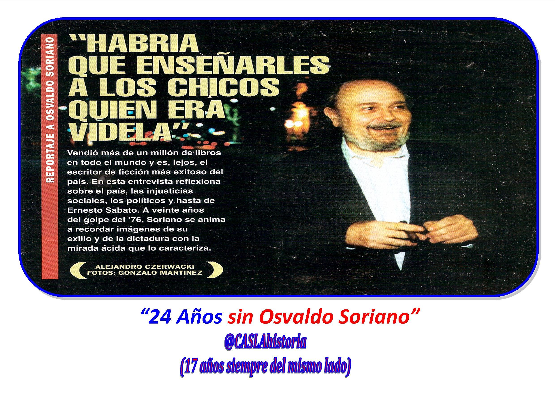 «24 Años sin Osvaldo Soriano»