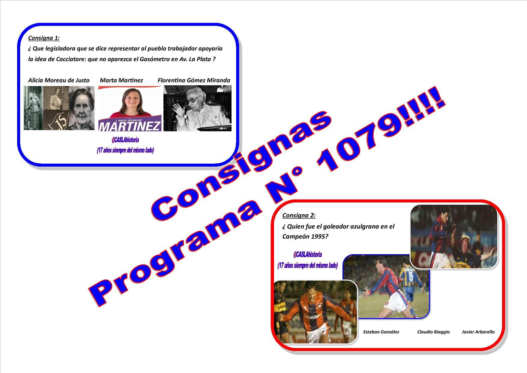 Consignas Programa N° 1079 !!!!