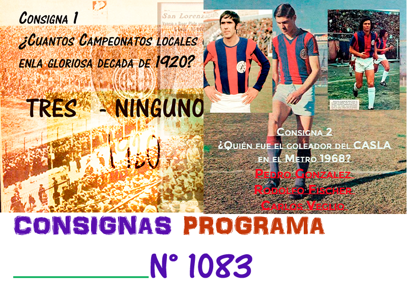 Consignas Programa N° 1983 !!!