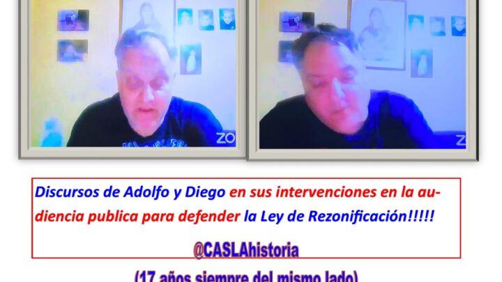 Discursos de Adolfo y Diego en sus intervenciones en la audiencia publica para defender la Ley de Rezonificacion!!!!!