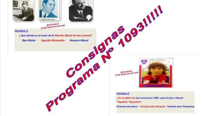 Consignas Programa N° 1093 !!!!!!