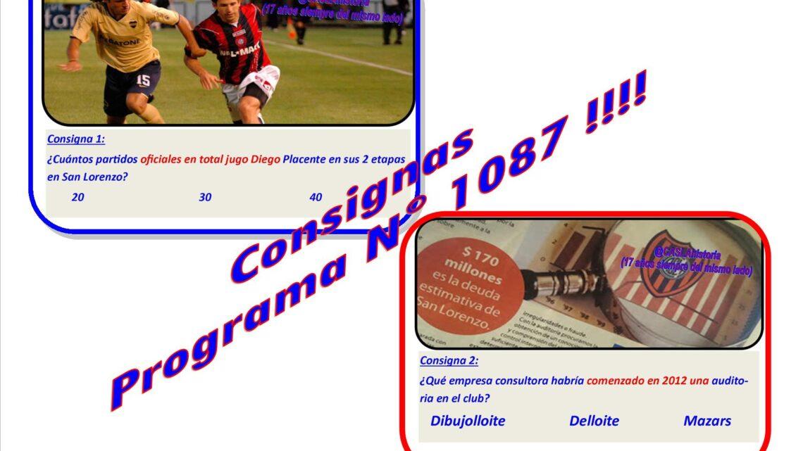 Consignas Programa N° 1087!!!!