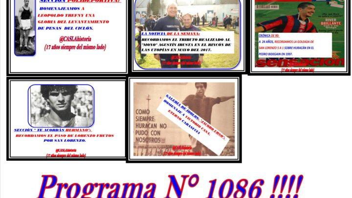 Programa N° 1086 de Lunes por www.radioamep.com.ar  de 18 a 21 hs.