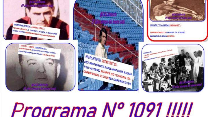 Programa N° 1091. «Noton a Olguin,Lindolfo,  Berizario, Soriva,Waldemar»