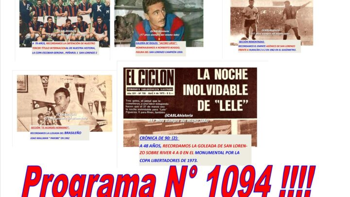 Programa N° 1094 de Lunes por www.radioamep.com.ar de 18 a 21 hs.