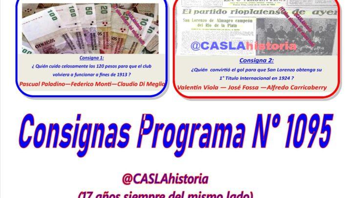 Consignas Programa N° 1095 !!!!!