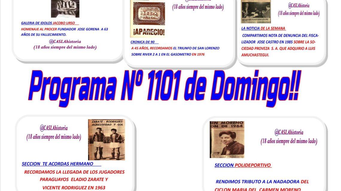 Programa N° 1101 de Domingo! José Gorena, Castro denuncia a Proveza por Amuchástegui, Moreno, Zarate y Rodriguez»