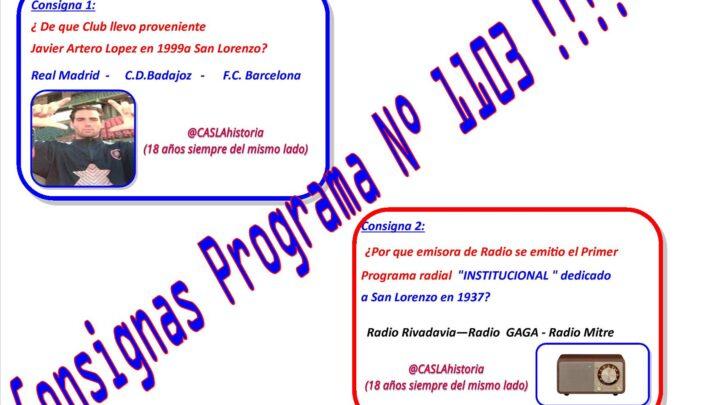 Consignas Programa N° 1103 !!!